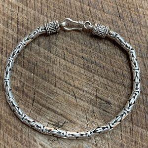 Jewelry - 925 Sterling Silver Byzantine Bracelet